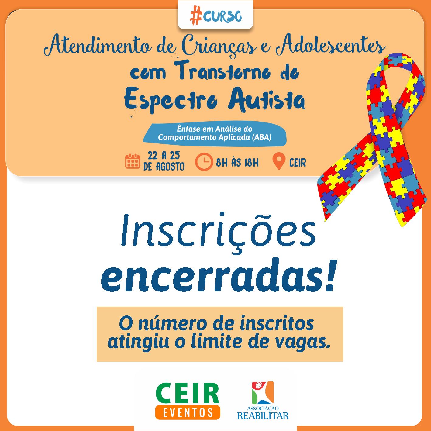Curso de Atendimento de Crianças e Adolescentes com Transtorno do Espectro Autista